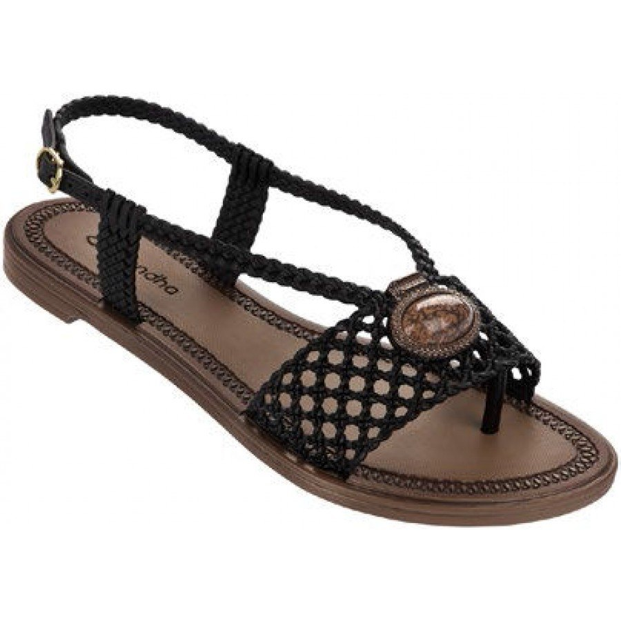 Дамски равни сандали Grendha черни