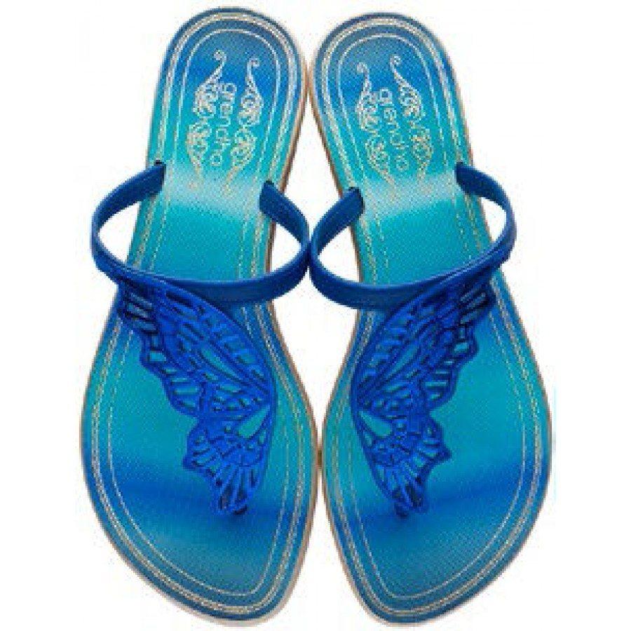 Дамски чехли Grendha сини