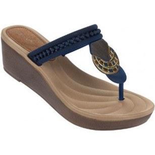 Дамски чехли на платформа Grendha TRIBAL сини