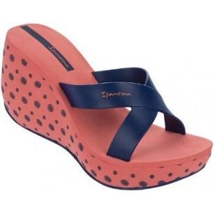 Дамски чехли на платформа Ipanema LIPSTICK диня/синьо
