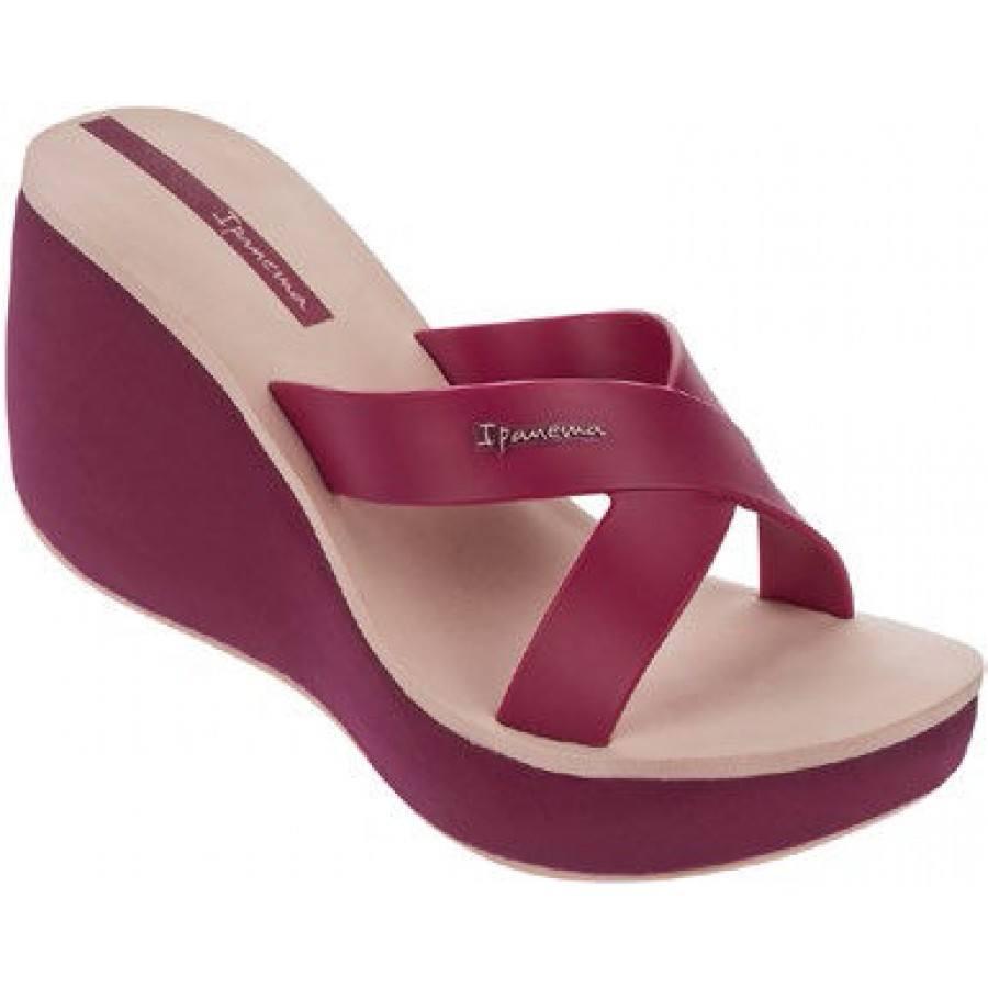 Дамски чехли на платформа Ipanema LIPSTICK розови