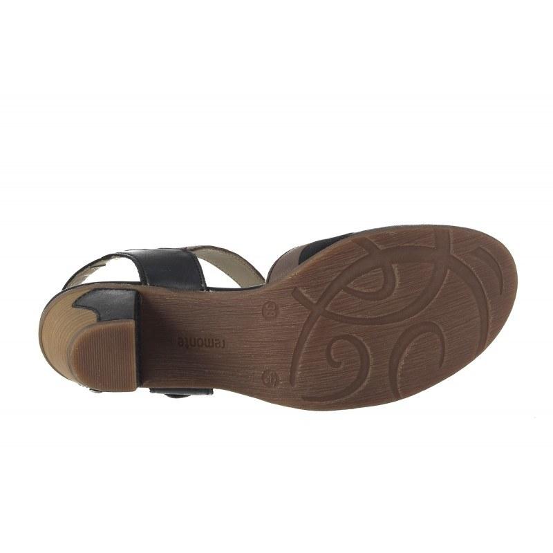 Дамски летни обувки на ток Remonte черни