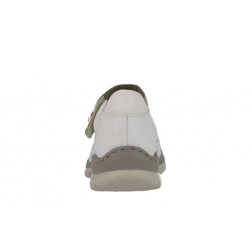 Дамски кожени обувки естествена кожа Rieker бели