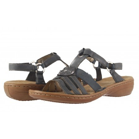 Дамски ортопедични сандали Rieker сиви