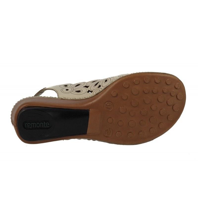 Дамски сандали естествена кожа Remonte бежови