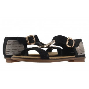 Дамски анатомични сандали равни Rieker черни