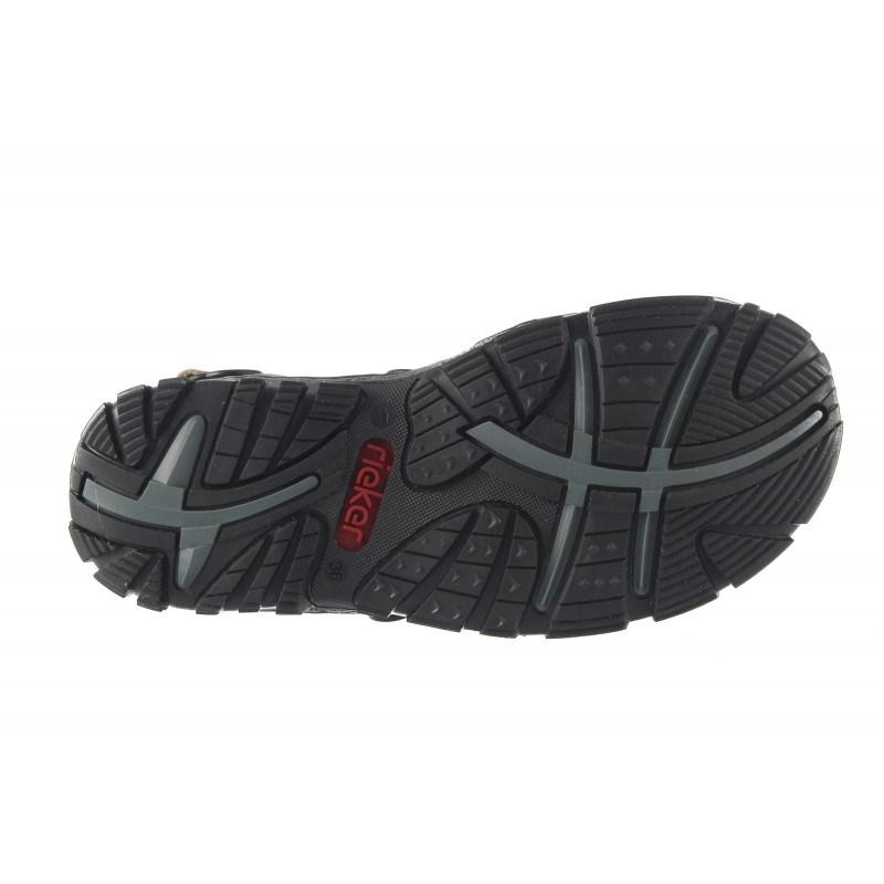 Дамски ортопедични сандали Rieker бежови