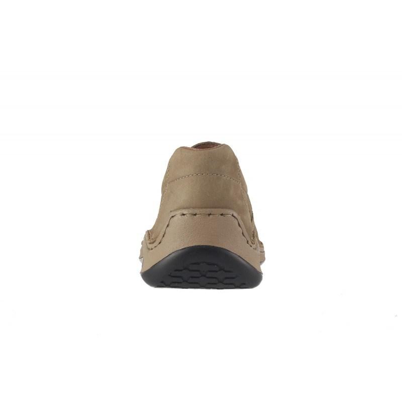 Мъжки летни обувки естествена кожа Rieker бежови