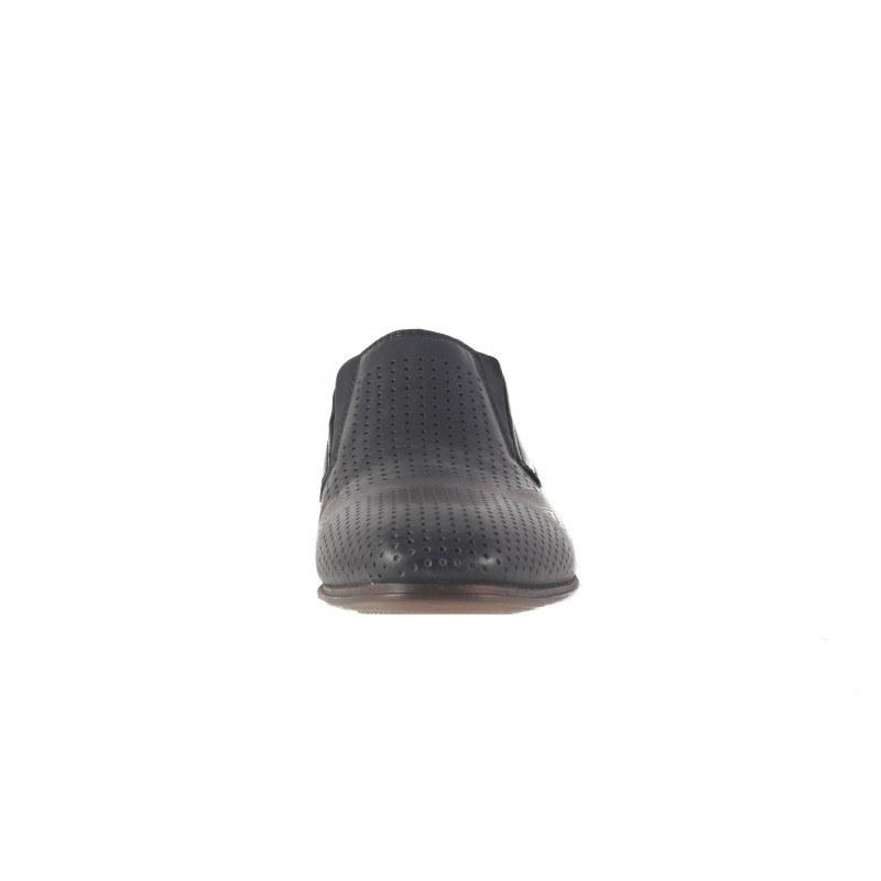 Мъжки кожени обувки Rieker без връзки черни