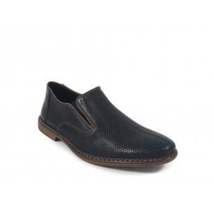 Мъжки кожени летни обувки без връзки Rieker 1345500