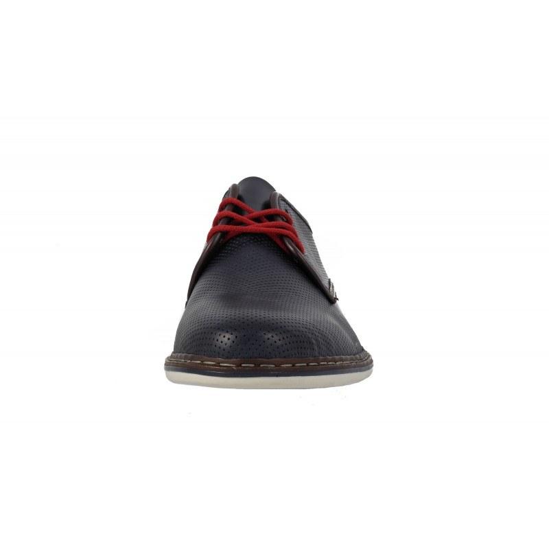 Мъжки кожени обувки Rieker сини 14826-14