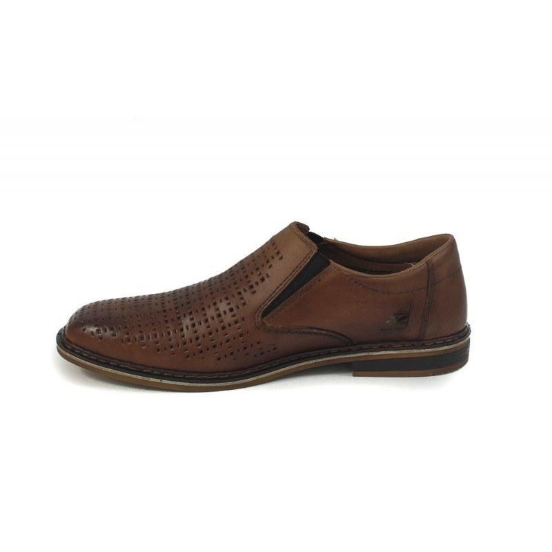Мъжки кожени летни обувки без връзки Rieker 176725
