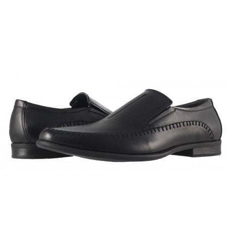 Мъжки кожени обувки Rieker черни 266500