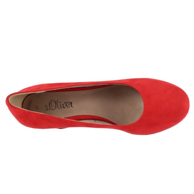 Дамски обувки на платформа S.Oliver червени