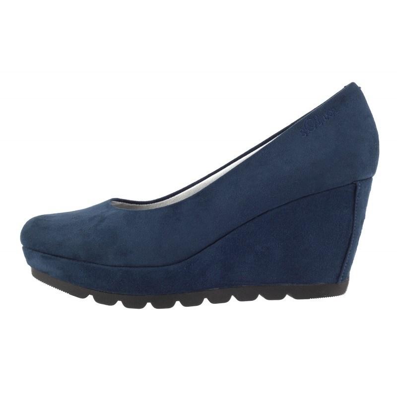 Дамски обувки на платформа S.Oliver сини
