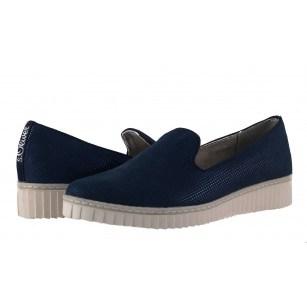 Дамски обувки с платформа S.Oliver сини