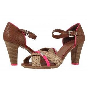 Дамски сандали на висок ток S.Oliver кафяви