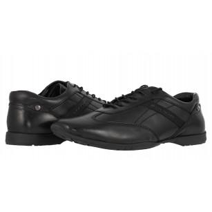 Мъжки спортно-елегантни обувки от естествена кожа S.Oliver черни