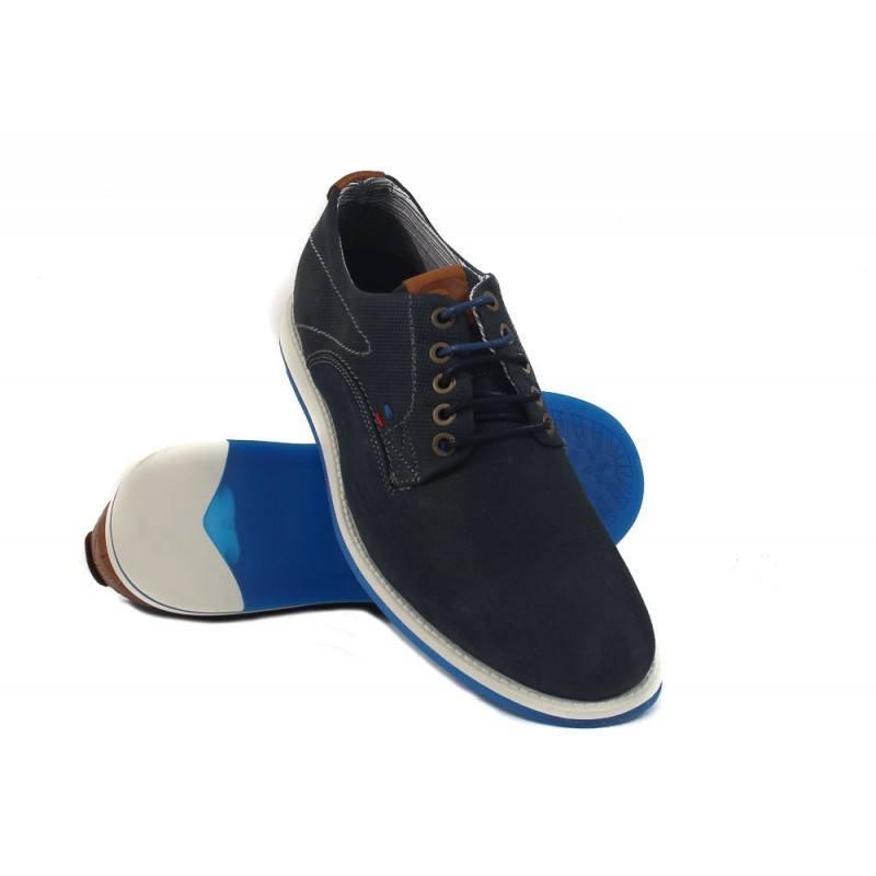 Мъжки обувки от естествена кожа S.Oliver сини 13218831