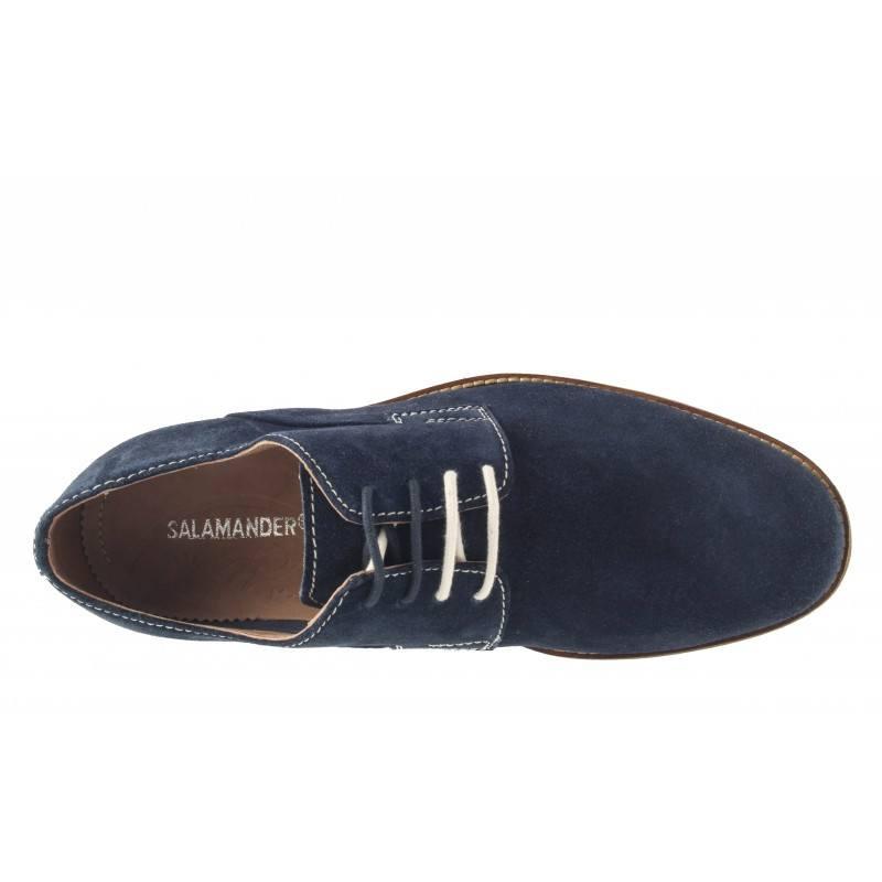 Мъжки велурени обувки Salamander с връзки