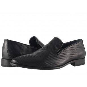 Елегантни мъжки обувки без връзки Salamander черни