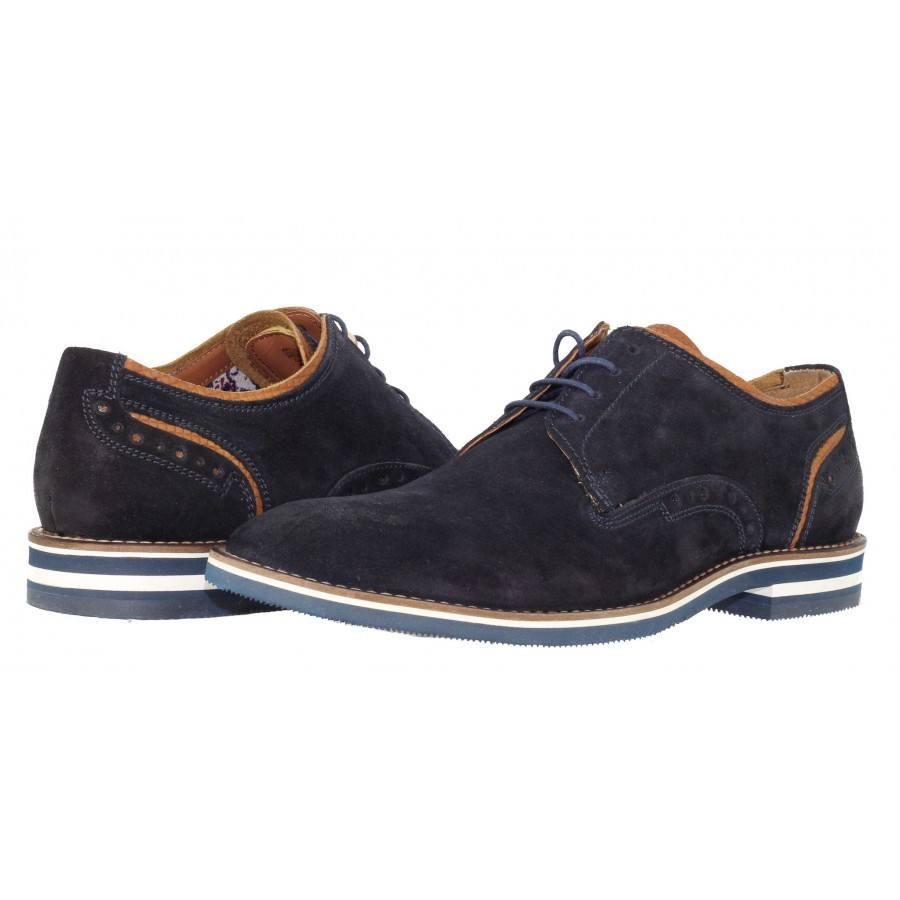 Мъжки обувки от естествен велур Salamander сини