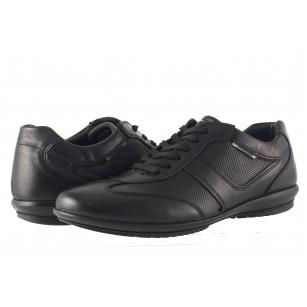 Мъжки спортно-елегантни обувки Salamander черни 6510101