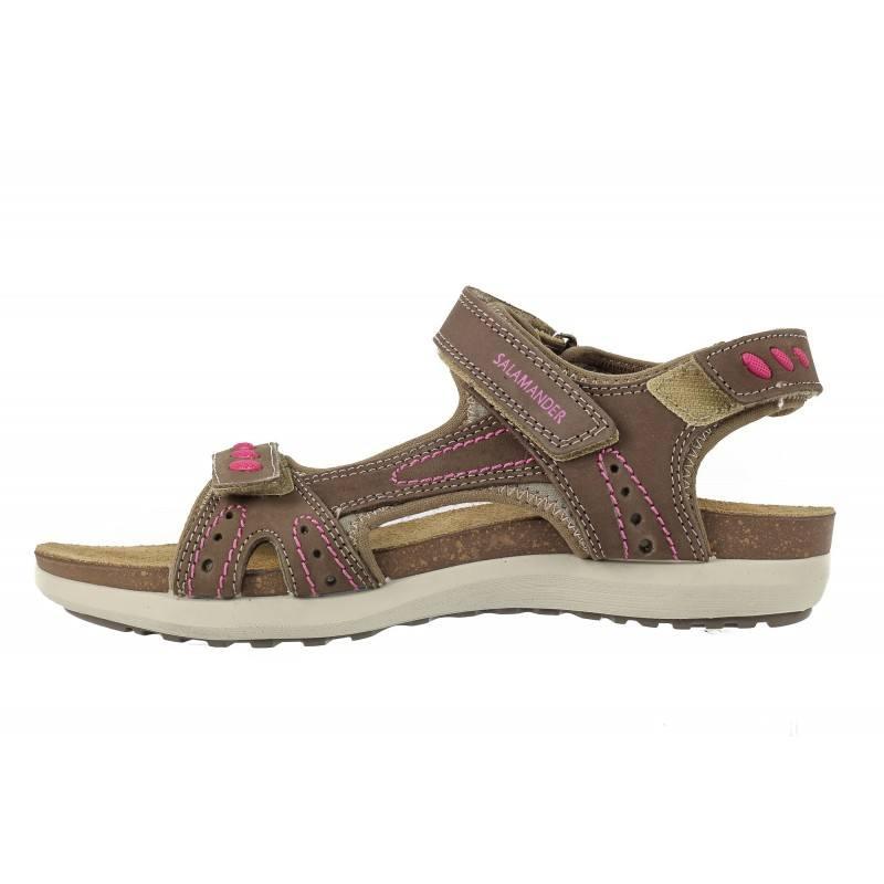 Дамски спортни сандали естествена кожа Salamander  ортопедични бежови