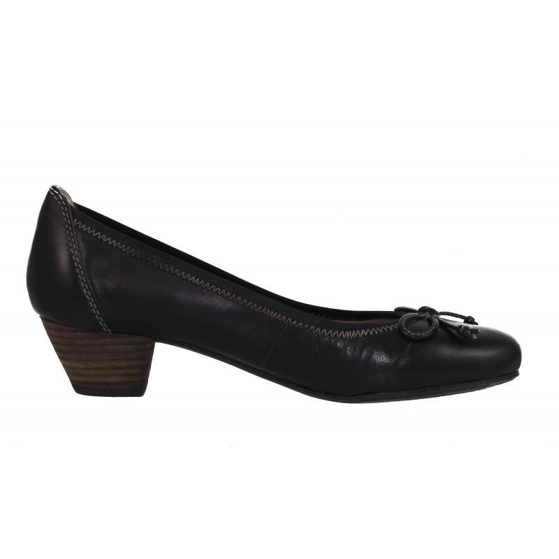 Дамски обувки на ток естествена кожа Salamander черни
