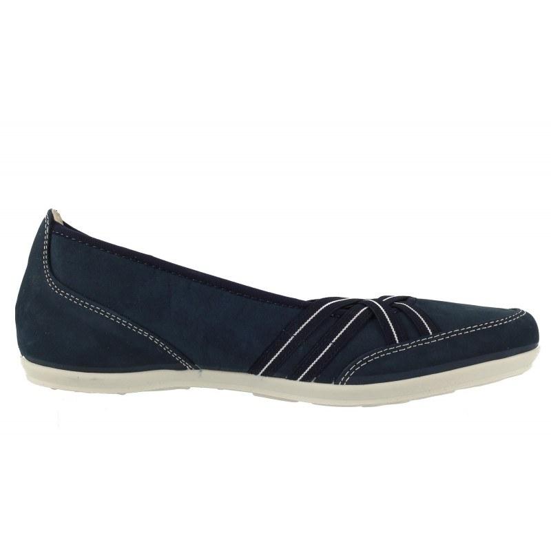 Дамски кожени обувки балерина Salamander сини 9910212