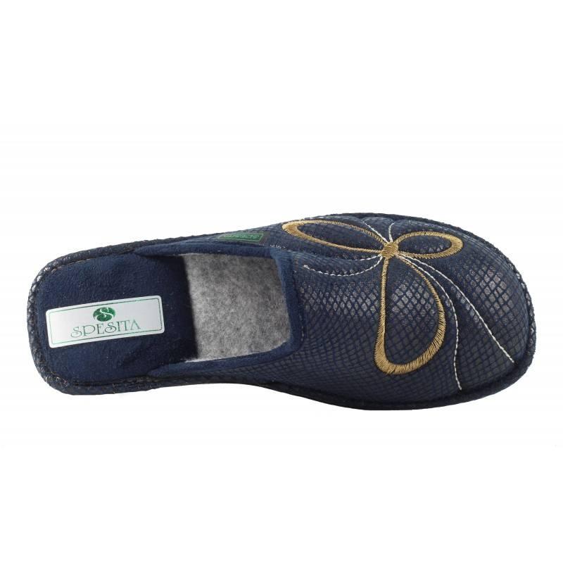 Дамски тъмно сини домашни чехли Spesita