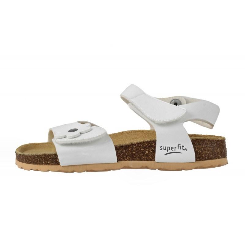 Ортопедични детски сандали за момиче Superfit бели 25/33