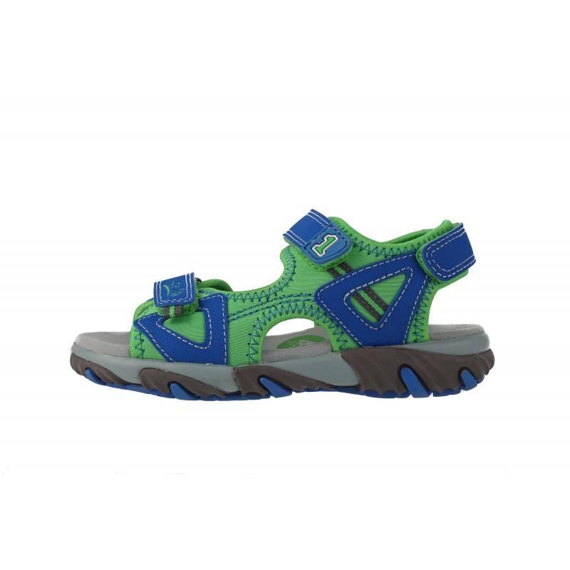 Детски ортопедични сандали за момче Superfit сини/зелени 31/35