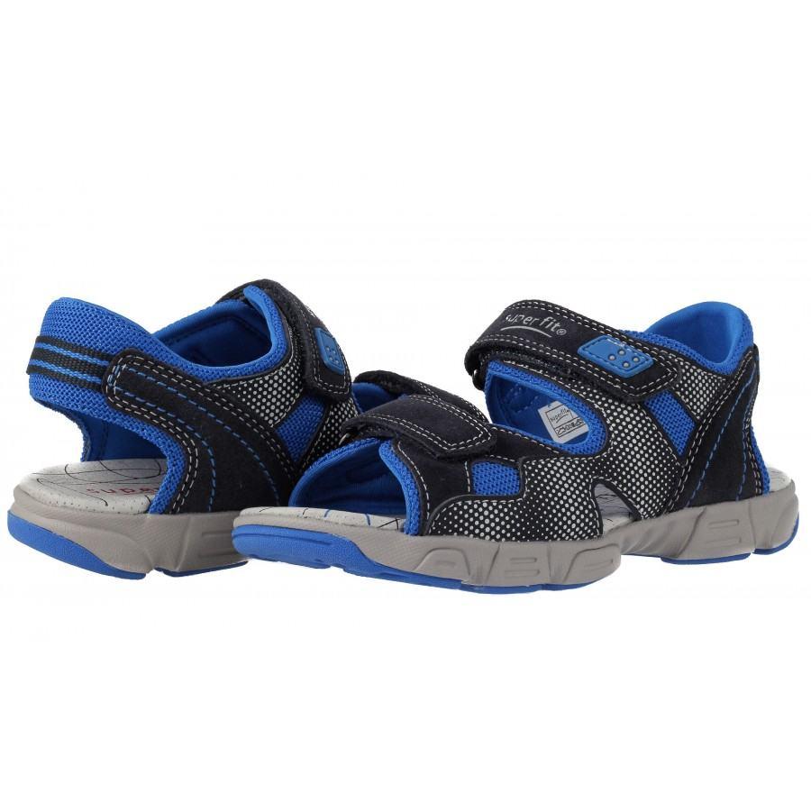Ортопедични детски сандали за момче Superfit сини 26/30