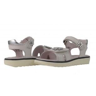 Кожени детски сандали за момиче Superfit бели Xtralight 25/32