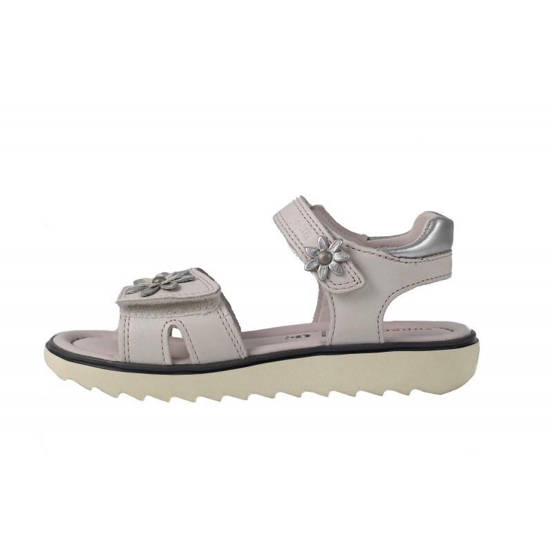 Кожени детски сандали за момиче Superfit бели Extralight 25/32
