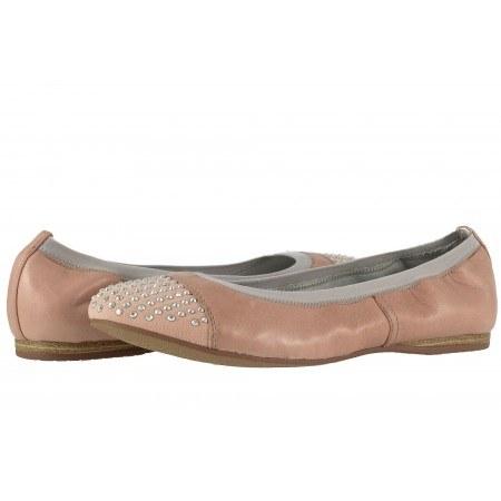 Дамски кожени обувки балерина Tamaris розови