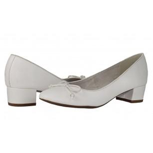 Дамски обувки с нисък ток Tamaris бели