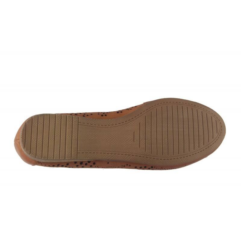 Дамски кожени обувки балерина Tamaris кафяви мемори пяна