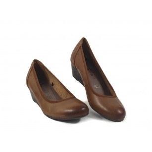 Дамски обувки холандски ток кафяви Tamaris мемори пяна 22320444