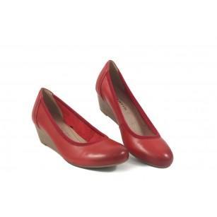 Дамски обувки холандски ток червени Tamaris мемори пяна 22320533