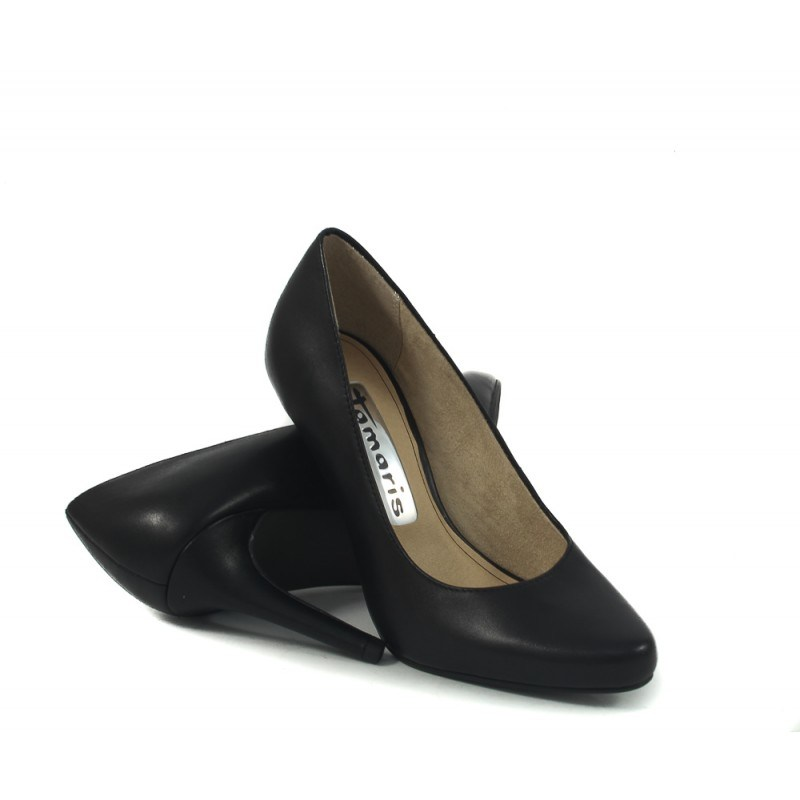 Дамски елегантни обувки на ток Tamaris черни 2431001