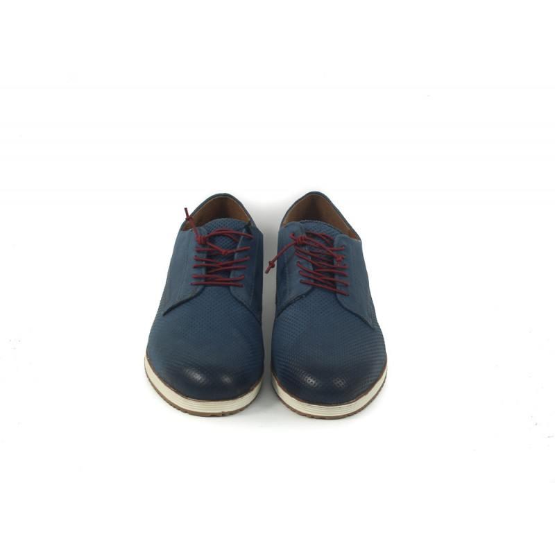 Дамски кожени обувки Tamaris сини 23614805