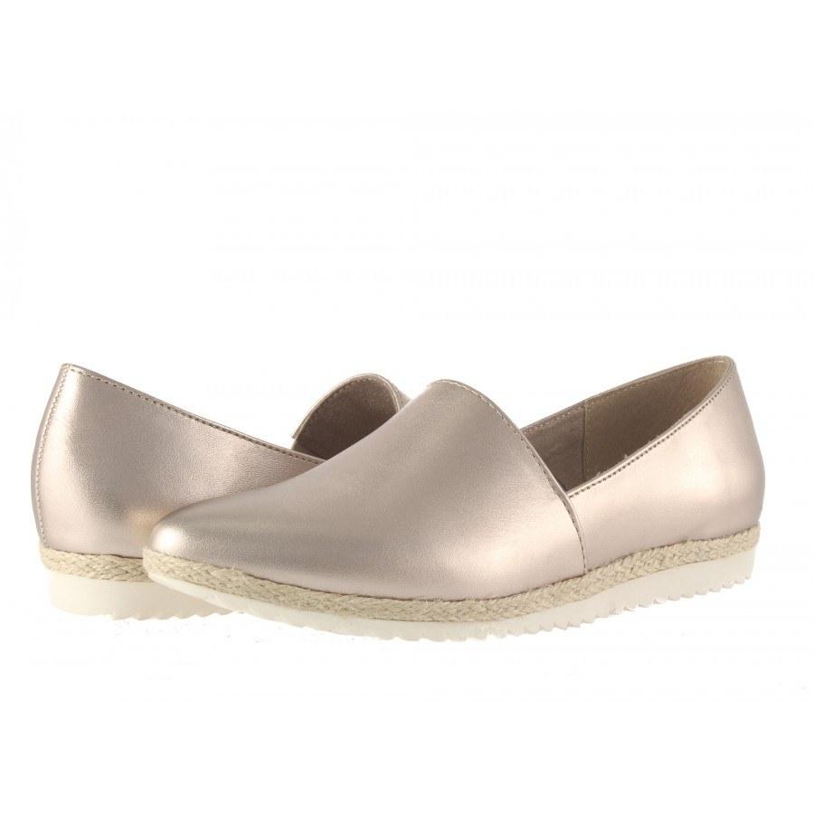 Дамски равни обувки еспадрили Tamaris златисти мемори пяна