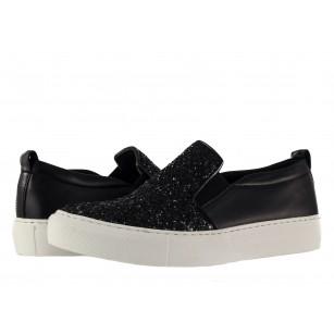 Дамски обувки гуменки от естествена кожа Tamaris черни