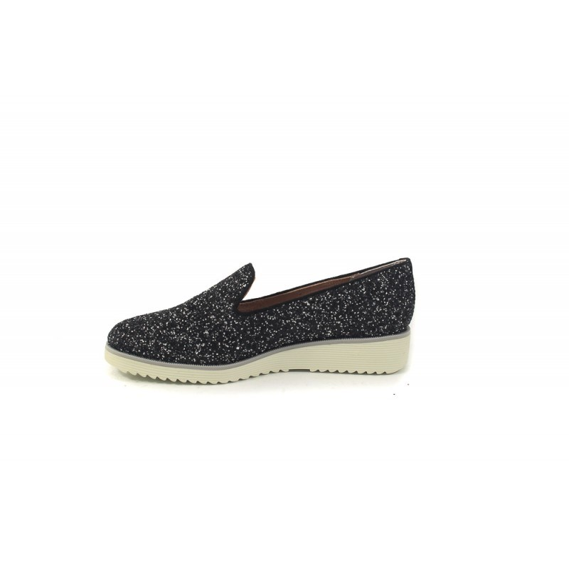 Дамски обувки на платформа Tamaris черни брокат 24702091