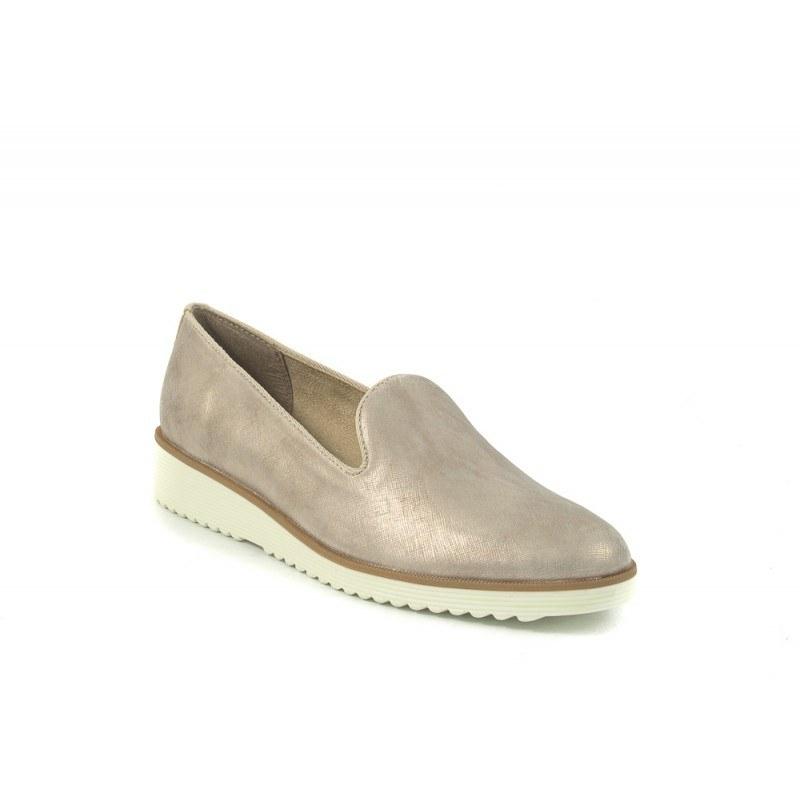 Дамски обувки на платформа Tamaris сребристи 24702909