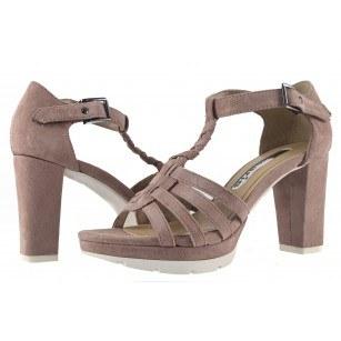 Дамски сандали на ток Tamaris пурпурни 28006