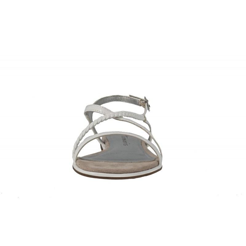 Дамски равни сандали Tamaris бели