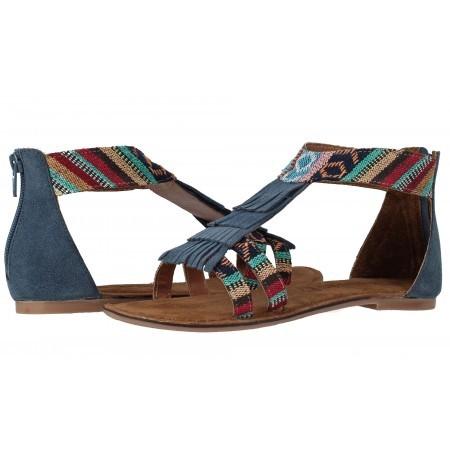 Дамски равни сандали с ресни Tamaris цветни